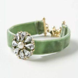 Anthropologie Cabochon Vintage Velvet Bracelet